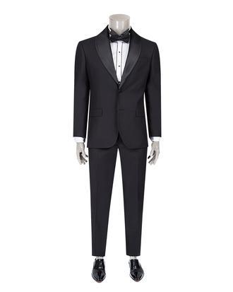 Ds Damat Slim Fit Slim  Fit Siyah Düz Takim Elbise - 8682060620262 | D'S Damat