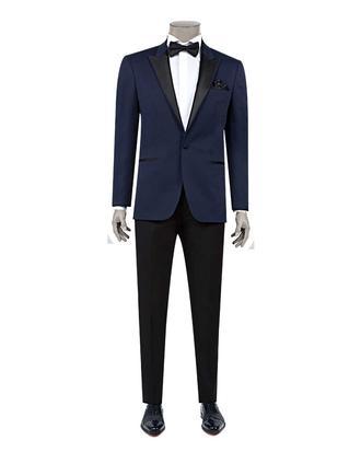 Ds Damat Slim Fit Slim  Fit Lacivert Jakar Desenli Takim Elbise - 8682060620453 | D'S Damat