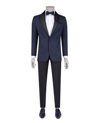 Ds Damat Slim Fit Slim Fit Lacivert Desenli Takım Elbıse - 8681779912514 | D'S Damat