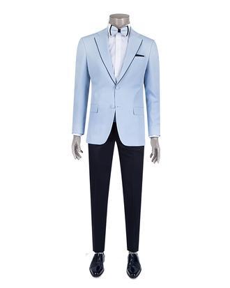 Ds Damat Slim Fit Slim Fit Mavi Düz Smokin Takım Elbise - 8681779326137 | D'S Damat