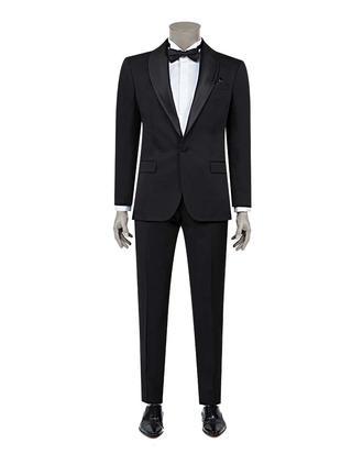 Ds Damat Slim Fit Slim  Fit Siyah Jakar Desenli Takim Elbise - 8682060628404 | D'S Damat
