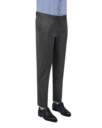 Twn Slim Fit Gri Kareli Kumaş Pantolon - 8681778708965 | D'S Damat