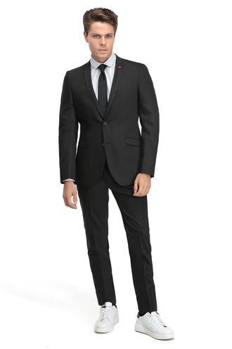 Twn Slim Fit Slim Fit Siyah Düz Takim Elbise - 8681779644125 | D'S Damat