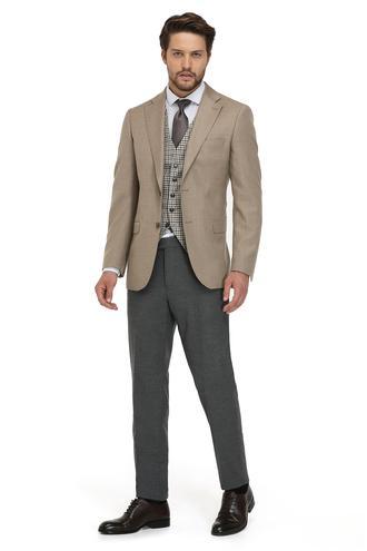 Taılor Made Slim Fit Slim Fit Camel Ceket - 8682060031099 | D'S Damat