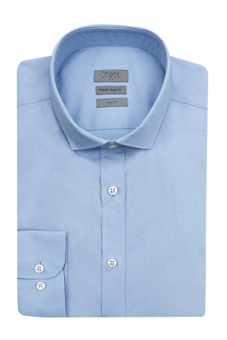 Twn Slim Fit Mavi Düz Gömlek - 8682060653567 | D'S Damat