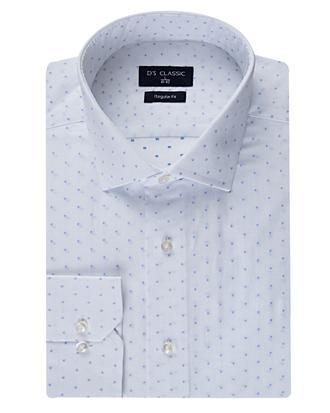 Ds Damat Regular Fit Beyaz Desenli Gömlek - 8681494231624 | D'S Damat