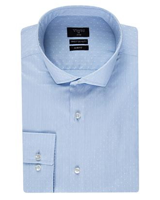 Twn Slim Fit Mavi Armürlü Gömlek - 8681494251745 | D'S Damat