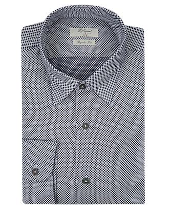 Ds Damat Regular Fit Lacivert Baskılı Gömlek - 8681494530895 | D'S Damat