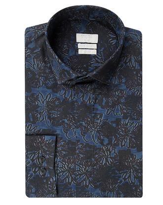 Twn Slim Fit Lacivert Baskılı Gömlek - 8681494535265 | D'S Damat
