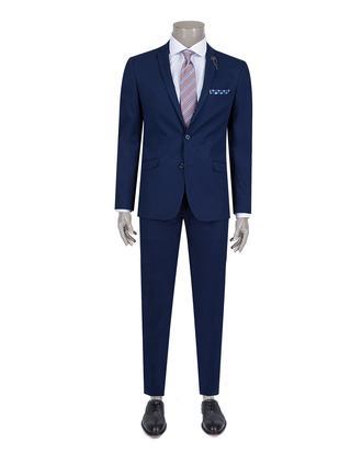 Twn Süper Slim Fit Slim Fit Lacivert Düz Takim Elbise - 8681494760865 | D'S Damat