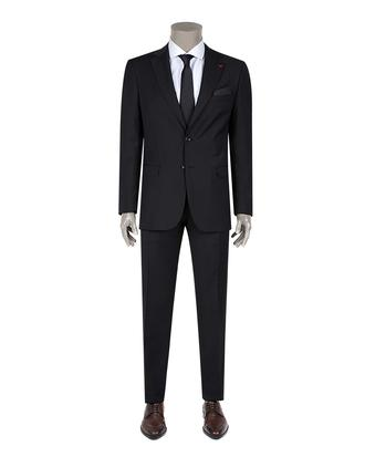Ds Damat Slim Fit Slim Fit Siyah Düz Takim Elbise - 8681494813264   D'S Damat