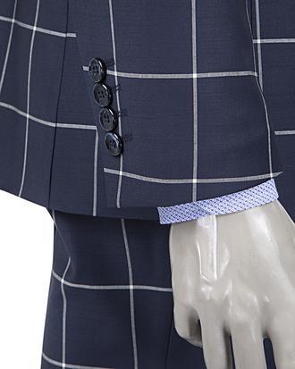 Ds Damat Slim Fit Slim  Fit Lacivert Ekoseli Takim Elbise - 8681778108109   D'S Damat