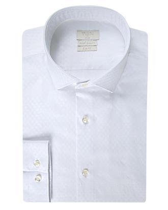 Twn Slim Fit Beyaz Armürlü Gömlek - 8681778298251   D'S Damat