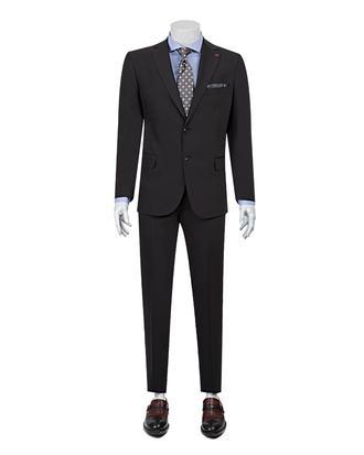 Ds Damat Slim Fit Slim Fit Siyah Düz Takim Elbise - 8681779160069   D'S Damat
