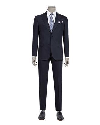Ds Damat Slim Fit Slim Fit Lacivert Düz Takim Elbise - 8681779160168   D'S Damat