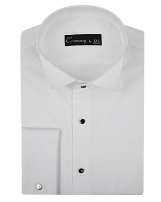 Ds Damat Slim Fit Beyaz Armürlü Smokin Gömlek - 8681779499091 | D'S Damat