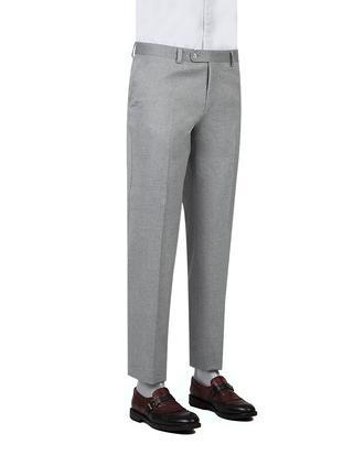 Ds Damat Slim Fit Gri Armürlü Kumaş Pantolon - 8682060382849 | D'S Damat