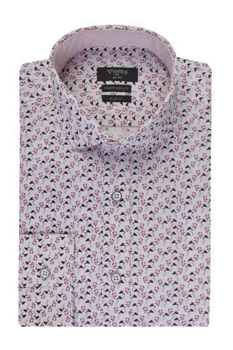 Twn Slim Fit Beyaz Desenli Gömlek - 8681778130810   D'S Damat