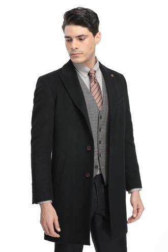 Ds Damat Slim Fit Lacivert Düz Palto - 8682060001993 | D'S Damat
