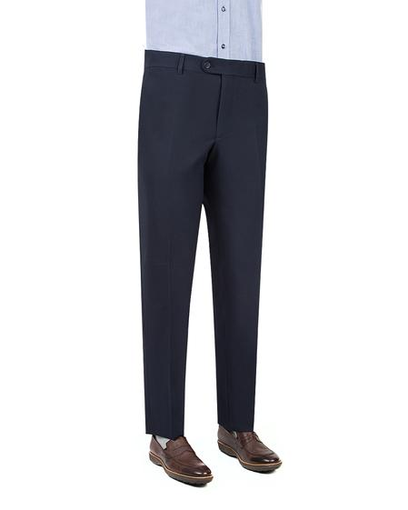 Ds Damat Slim Fit Lacivert Armürlü Kumaş Pantolon - 8682060384102 | D'S Damat