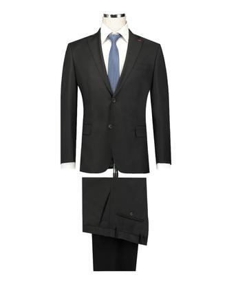 Ds Damat Regular Fit Slim Fit Siyah Düz Takım Elbise - 8682060116864 | D'S Damat