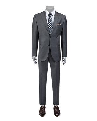 Ds Damat Regular Fit Slim Fit Gri Düz Takim Elbise - 8682060117359   D'S Damat