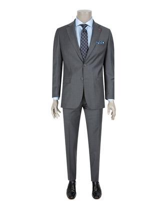 Ds Damat Slim Fit Slim Fit Gri Takım Elbise - 8682060215963 | D'S Damat