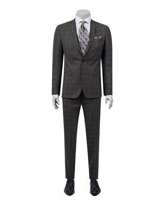 Twn Süper Slim Fit Slim  Fit Antrasit Takim Elbise - 8681778450505   D'S Damat