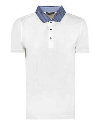 Twn Slim Fit Ekru Jakar Desenli T-shirt - 8681778309872 | D'S Damat