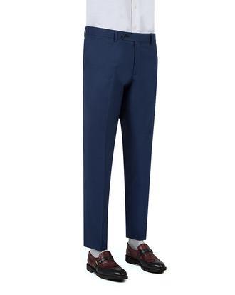 Ds Damat Slim Fit Mavi Düz Kumaş Pantolon - 8681778158951 | D'S Damat