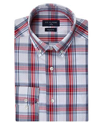Ds Damat Regular Fit Kırmızı Ekoseli Gömlek - 8681494952307 | D'S Damat
