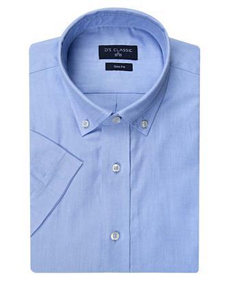 Ds Damat Slim Fit Mavi Oxford Gömlek - 8681779316329 | D'S Damat