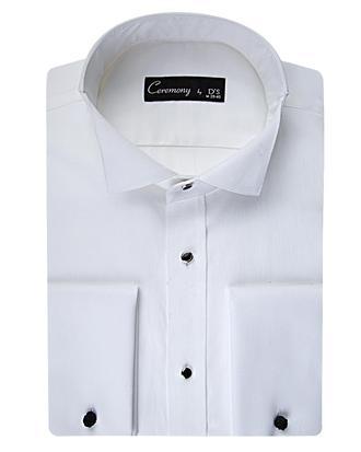 Ds Damat Slim Fit Beyaz Düz Smokin Gömlek - 8681778054222 | D'S Damat