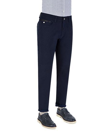 Twn Slim Fit Lacivert Dokulu Chino Pantolon - 8681778561737 | D'S Damat