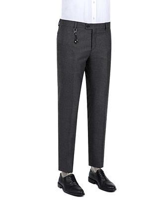Twn Slim Fit Antrasit Desenli Kumaş Pantolon - 8681778561805 | D'S Damat