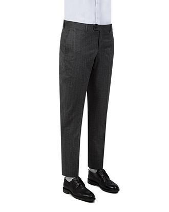 Twn Slim Fit Gri Çizgili Kumaş Pantolon - 8681778519950   D'S Damat