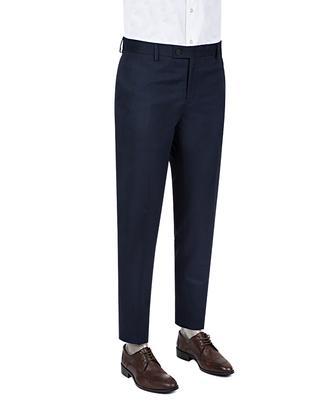 Twn Slim Fit Lacivert Düz Kumaş Pantolon - 8681778812464   D'S Damat
