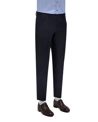 Twn Slim Fit Lacivert Düz Kumaş Pantolon - 8681778710005   D'S Damat