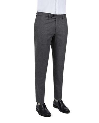 Twn Slim Fit Gri Düz Kumaş Pantolon - 8681778811818   D'S Damat