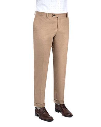 Twn Slim Fit Camel Düz Kumaş Pantolon - 8681778813645   D'S Damat
