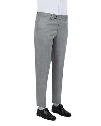 Twn Slim Fit Gri Düz Kumaş Pantolon - 8681778710616   D'S Damat