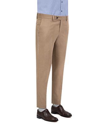 Twn Slim Fit Camel Düz Kumaş Pantolon - 8681778710302   D'S Damat