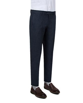 Twn Slim Fit Lacivert Desenli Kumaş Pantolon - 8681778715314 | D'S Damat