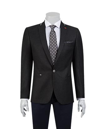 Twn Süper Slim Fit Siyah Kumaş Ceket - 8681778668948 | D'S Damat