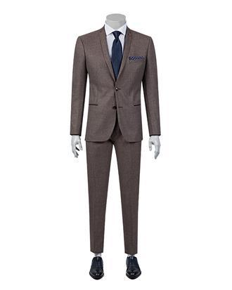 Twn Süper Slim Fit Slim Fit Bordo Takım Elbise - 8681778711293 | D'S Damat