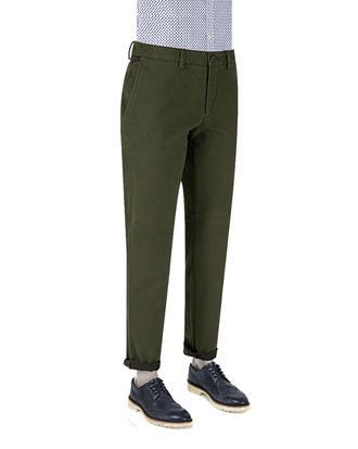 Ds Damat Slim Fit Yeşil Dokulu Chino Pantolon - 8681778815847   D'S Damat
