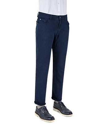 Ds Damat Slim Fit Lacivert Dokulu Chino Pantolon - 8681778821121 | D'S Damat
