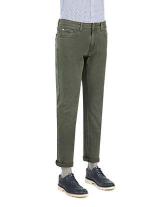 Ds Damat Slim Fit Haki Dokulu Chino Pantolon - 8681778822609 | D'S Damat