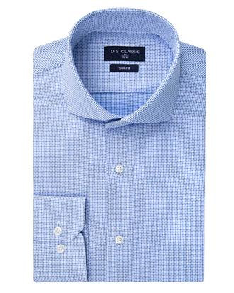 Ds Damat Slim Fit Mavi Armürlü Gömlek - 8681778549230   D'S Damat