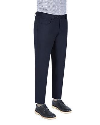 Ds Damat Slim Fit Lacivert Düz Kumaş Pantolon - 8681778814598   D'S Damat